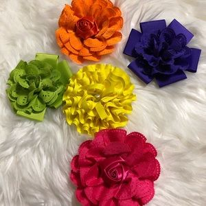 Set of 5 Hair Bows for Hair!!!